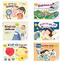 Combo Ehon Nhật Bản: Ehon Sự Kỳ Diệu Của Cơ Thể ( Ehon kỹ năng sống / Bách khoa thư về cơ thể cho bé) Bộ 6 cuốn - Tặng kèm postcard HappyLife