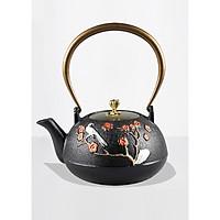 Ấm trà phong cách Nhật kèm hoa văn sang trọng 1.2lit