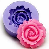 Khuôn silicon làm rau câu hoa hồng