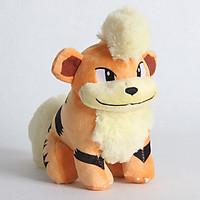 Gấu Bông Pokemon - Chó Lửa Growlithe (30 Cm) Gb218 (Tặng 1 Móc Khóa Dây Da Pu Đính Đá Lấp Lánh)