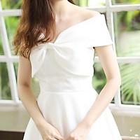 Đầm maxi dự tiệc mặc cưới bẹt nơ ngực TRIPBLE T DRESS -size M/L (kèm ảnh/video thật) MS51Y