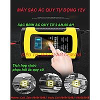 Máy sạc ắc quy ô tô xe máy 6A sạc bình từ 4Ah-100Ah