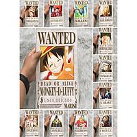 Bộ 12 Poster One Piece Siêu Tân Tinh, Thế hệ tồi tệ nhất Tân Thế Giới Mới nhất (Hình dán tường tiện lợi, Chất lượng Full HD)
