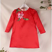 Áo dài cách tân cho bé mặc thiết kế hoa tulip