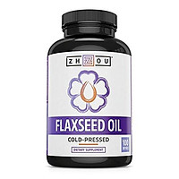 Zhou Nutrition Flaxseed Oil Softgels to Support Heart Health and Healthy Hair, Skin & Nails - Cold-Pressed - Essential Omega 3 6 9 Fatty Acids - 1000 mg per Serving, 100 Count