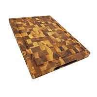 Thớt Gỗ Teak BUZEN Cao Cấp 25x35x2.5cm - Thớt gỗ cứng có rãnh chống tràn đặc biệt dùng làm khay phục vụ các món nướng BBQ