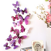 Sét 12 con bướm trang trí tường tủ lạnh cánh dài mẫu M16 (Chọn mầu)