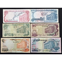 Tiền cổ Việt Nam, đủ bộ tiền Hoa Văn 6 mệnh giá 20 đồng, 50 đồng, 100 đồng, 200 đồng, 500 đồng và 1000 đông