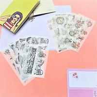 Combo 2 Bộ 6 Tấm Sticker Dán Trang Trí Thiên Thần Và Hoa Xưa