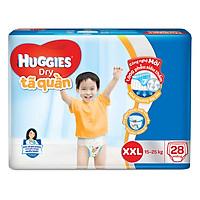 Tã Quần Huggies Dry XXL28 (28 Miếng) - Bao Bì Mới