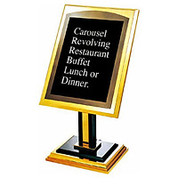 Bảng thông báo menu nhà hàng khách sạn, Mã P-22, Chân đế vững chắc