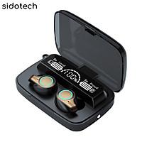 Tai nghe bluetooth không dây SIDOTECH mini TWS true wireless có micro không dây bluetooth 5.1 âm thanh CV8 bùng nổ Siêu Bass, màn hình LED hiển thị pin, cảm ứng vân tay cực nhạy có sạc dự phòng cho điện thoại, mẫu tai nghe không dây Siêu Bass - Hàng Chính Hãng