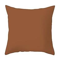 Gối Sofa, Gối vuông Trang Trí Cotton Đơn Sắc - Màu Nâu (45 x 45 cm)