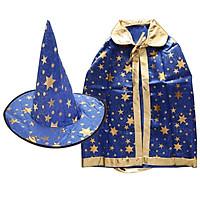 Halloween Costumes Wizard Cloak with Hat for Kids Children Boys Girls