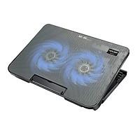 Đế tản nhiệt máy tính xách tay Inphic R2 với hai quạt siêu mát dùng cho máy 14 đến 17 inch - Hàng chính hãng