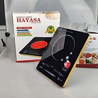 [Bếp không kén nồi]Bếp Hồng Ngoại 2 vòng nhiệt Hayasa 780slim, công suất 2000W, phím cảm ứng-Hàng chính hãng