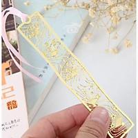 Bookmark kim loại đánh dấu trang sách hình thanh dài họa tiết ngẫu nhiên