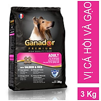 Thức ăn cho chó trưởng thành Ganador vị cá hồi và gạo Adult with Salmon & Rice 3kg