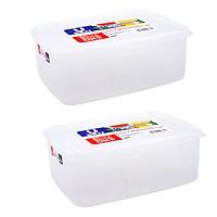 Bộ 2 hộp đựng thực phẩm bằng nhựa PP cao cấp 3L - Hàng nội địa Nhật