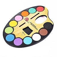 Bộ Palette 12 Màu Nước Water Color Cao Cấp Size Nhỏ/Vừa/Lớn Tặng Bút Lông Cọ Vẽ Pha Màu Tiện Dụng - Bộ Palette Màu Nước Chuyên dụng Tiện Dụng 12 Màu Sắc Chất Lượng Vượt Trội - Hàng Chính Hãng VinBuy