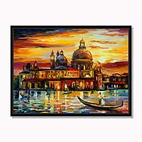Tranh cao cấp Bầu trời vàng trên thành phố Venice Model: AZ1-0270