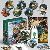 Hộp quà tặng anime Attack On Titan Đại Chiến Titan có bookmark postcard huy hiệu ảnh dán ảnh thẻ poster (MẪU GIAO NGẪU NHIÊN)