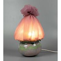 Đèn nấm ngũ sắc Gốm Sứ Bát Tràng trang trí nội thất, đèn để bàn phòng ngủ