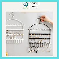 Móc treo bông tai, đồ trang sức bằng sắt tiện dụng, mẫu mới, phong cách hiện đại- Giá treo vòng cổ, dây cột tóc và phụ kiện, chọn màu tùy ý