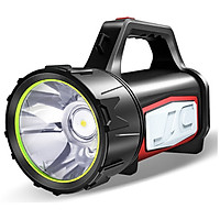Đèn pin siêu sáng 1500 lumens, tầm chiếu xa 1000m thương hiệu Smiling Shark, hỗ trợ tìm kiếm cứu nạn, làm sạc dự phòng, làm đèn cắm trại, chống nước, hoạt động tốt trong thời tiết mưa bão, thời lượng pin 25h - Hàng chính hãng