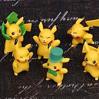 Bộ sưu tập 06 mô hình Pikachu đồ chơi Pokemon (Mẫu 01)