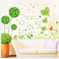 Decal dán tường combo cỏ xanh thiên nhiên tươi mát