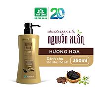 Dầu gội dược liệu Nguyên Xuân Bồng bềnh 350ml - Ngát hương hoa, da đầu dầu bết.(Khuyến mại thêm 35ml giá không đổi)