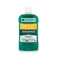 Nước súc miệng Singapore Pearlie White Sensirinze không chứa cồn ngăn ngừa mảng bám, sâu răng, chống hôi miệng dùng hàng ngày dành cho răng nhạy cảm - Xanh (750ml/chai)