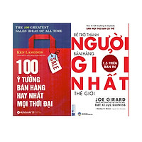 Bộ Sách Bí Quyết Trở Thành Người Bán Hàng Hay Nhất Mọi Thời Đại ( 100 Ý Tưởng Bán Hàng Hay Nhất Mọi Thời Đại + Để Trở Thành Người Bán Hàng Giỏi Nhất Thế Giới ) tặng kèm bookmark Sáng Tạo