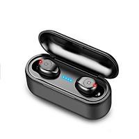 Tai Nghe CAPARIES Bluetooth 5.0 (Tai Nghe Không Dây) V1 ,Chống Nước ,Chống ồn ,Tự Động Kết Nối , Nhỏ gọn , Âm Thanh 8.0 HD - Hàng Chính Hãng CAPARIES