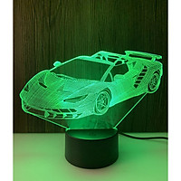 Đèn ngủ 3D - Đèn led 3D ô tô công tắc cảm ứng