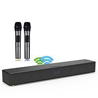 Loa Soundbar Bluetooth âm thanh vòng Surround 5.1 trung thực tích hợp 02 micro không dây chuyên dùng hát KARAOKE và nghe nhạc chất lượng cao trong gia đình