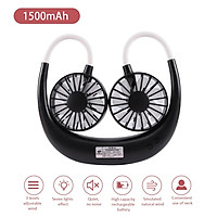 DC3.7V Mini Flexible Rotatable Bendable Neck Fan with Multi-color L-ED Lighting Eeffect 3 Adjustable Wind Speed 7 L-eaf