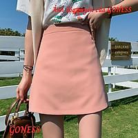 Chân váy Goness cạp cao dáng chữ a màu hồng cá tính CJ441