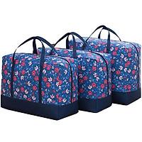 Bộ 3 túi đựng chăn màn quần áo chống thấm - Giao ngẫu nhiên + tặng 2 túi khử mùi giầy Nhật Pháp