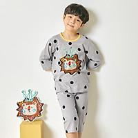 Bộ đồ lửng tay mặc nhà cotton mịn cho bé trai U2007 - Unifriend Hàn Quốc, Cotton Organic