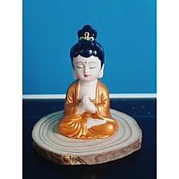 Tượng Quan Âm ngồi Thiền trên đế gỗ