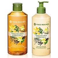 Bộ Gel tắm Yves Rocher 400ml + Dưỡng thể Yves Rocher 390ml - Hương Vani