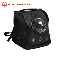 Mini Monstar Pet Carrier Bag Breathable Cat Backpack Portable Puppy Outdoor Travel Space Capsule Cage Transparent Space