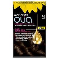 Thuốc nhuộm tóc Garnier Olia Permanent Hair Color - Màu 4.0