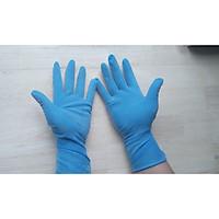 Combo 10 đôi găng tay Latex có bột màu xanh dương