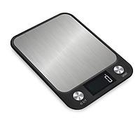 Cân 10kg màn hình LCD chống nước nhà bếp cân điện tử màu đen thép không gỉ