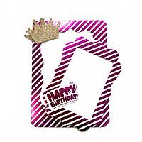 Bộ 2 khung ảnh hình giấy để bàn trang trí tiệc sinh nhật ngày lễ