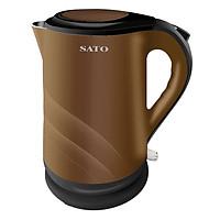 Ấm Đun Siêu Tốc SATO VN-ST-1806-ONL (1.8 Lít) - Nâu - Hàng Chính Hãng