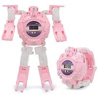Đồ chơi lắp ghép ĐỒNG HỒ BIẾN HÌNH ROBOT SIÊU NHÂN màu hồng